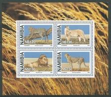 Namibia 1998 Raubkatzen Löwe Gepard Leopard Block 37 Postfrisch (C25028) - Namibia (1990- ...)