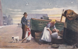 ILLUSTRATEUR RAPHAEL TUCK  EVENING ON THE BEACH N° 9043 BELLE CARTE RARE !! - Tuck, Raphael