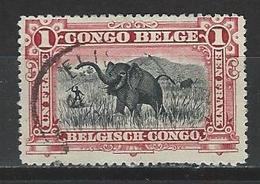 Belgisch Kongo Mi 21 Used - Belgian Congo