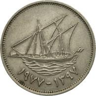 Kuwait, Jabir Ibn Ahmad, 50 Fils, 1977, TTB, Copper-nickel, KM:13 - Koweït