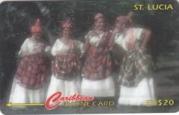 ST. LUCIA ISL.(GPT) - Women In National Dress, CN : 201CSLB, Tirage 15000, Used - Santa Lucía