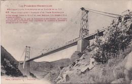 F66-021 NOUVELLE LIGNE ELECTRIQUE DE LA VALLEE DE LA TÊT - Pont GISCLABD - Passage D'un Train électrique... - Ouvrages D'Art
