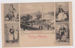 Costumi Di Scutari, Albania, FRANCHIGIA DI GUERRA MONTENEGRO, TIMBRO CROCE ROSSA - F.p.- Anni '1910 - Albania