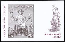 Czech Republic 2002 / Tradition In Stamp Production / Stamp On Stamp / Markenheftchen / MNH Booklet, Carnet - Briefmarken Auf Briefmarken