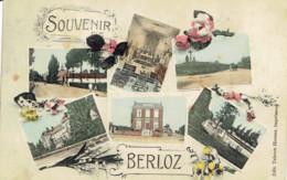 Souvenir De Berloz Multivues (5) Ecole Des Filles,int. De L'eglise - Berloz