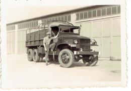 Photo Originale 87X60mm Camion GMC Transport De Troupe (militaire)  Papier Agfa Lupex - War, Military