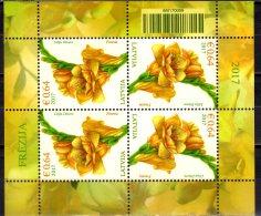 2017 Latvia /Lettland  -Flowers / Blumen - Freesie (Freesia Sp.) - KB/ SS Of 4 V -MNH** MI 1010 Zz17 - Lettland