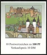 Germany 1996 / Heidelberg Heiliggeist-Kirche / Church / Markenheftchen, Booklet, Carnet MNH - BRD