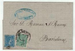 Espagne // Lettre Pour Barcelone - Lettres & Documents