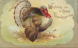 Wishing You A Happy Thanksgiving  Some Wear On Edges - Thanksgiving