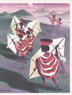 Carte 2 Volets KITE FLYING  PERU   RV - Peru
