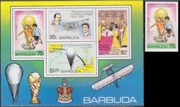 Soccer Football Barbuda #430 + Bl 39 1978 World Cup Argentina MNH ** - 1978 – Argentina