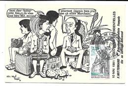 10 MAI 1981 - Elections Présidentielles - F. MITTERAND 1er Président Socialiste Français - Partis Politiques & élections