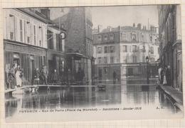 8AK2201 Puteaux. - Rue De Paris. - Inondations - Janvier 1910.  2 SCANS - Puteaux