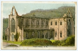 TINTERN ABBEY : SOUTH WEST / POSTMARK - COLEFORD, GLOS. / ADDRESS - LANGFORD BUDVILLE, WELLINGTON (SOMERSET) - Monmouthshire