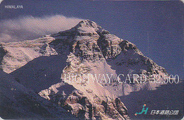 Carte Japon - ALPINISME Montagne NEPAL HIMALAYA MONT EVEREST - CHINA Rel. Mountain Japan Prepaid Card - Site HW 79 - Montagnes