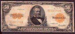 USA 50 Dollars 1922 Gold Certificate - Gold Certificates (1882-1922)