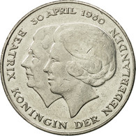 Pays-Bas, Beatrix, 2-1/2 Gulden, 1980, TTB, Nickel, KM:201 - [ 3] 1815-… : Kingdom Of The Netherlands
