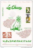 """"""" LES CHIENS """" Sur Document Philatélique Officiel De 1999 N° YT 3285 3286 DPO - Chiens"""