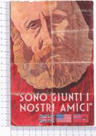 Volantino Alleati ~ Sono Giunti I Nostri Amici ~ WWII ~ Roosevelt ~ Sicilia ~ Garibaldi - 1939-45