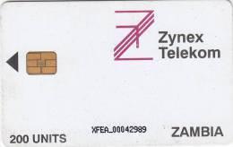 ZAMBIA - Zynex Telecom First Issue 200 Units, CN : XFEA, Used - Zambia