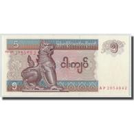 Billet, Myanmar, 5 Kyats, KM:70b, NEUF - Myanmar