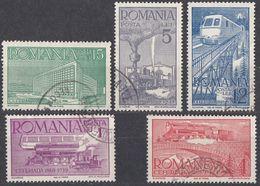 ROMANIA - 1939 - Lotto Cinque Valori Usati:  Yvert 581, 582, 583, 585 E 586, Come Da Immagine. - Usati