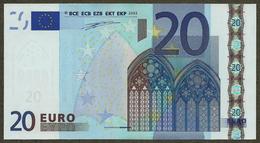 Ireland - T - 20 Euro - H002 - T31245024246 - Duisenberg - UNC - EURO