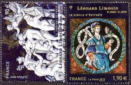 Oblitération Cachet à Date Sur Timbre De France N° 4928 Et 4929 - Léonard Limosin, Le Jugement De Paris - France