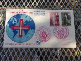 FRANCE (1956) CROIX ROUGE - FDC