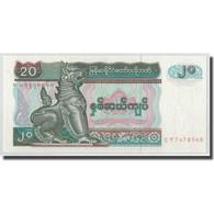 Billet, Myanmar, 20 Kyats, KM:72, NEUF - Myanmar