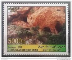 Iraq KURDISTAN REGION 2010 MNH Stamp - Ancient Grottos Of Kurdistan Mountains - Very High Face Value - 50000 ID - Irak
