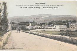 La Cerdagne - Ur, Entrée Du Village, Route De Bourg-Madame - Edition Brun Frères - Carte N° 229 Colorisée, Non Circulée - Francia