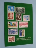 De Tio Populäraste Frimärkena I 1980 Ars Omröstningstävling ( Postens Tryckeri 1981 - See Photo ) ! - Suède