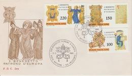 18 / 8 / 50 -  Poste  VATICANE. Enveloppe. I Er Jour Du. 21 / 3 / 1980 - Italie
