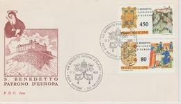 18 / 8 /51  - Enveloppe  Ier. Jour - POSTE  VATICANE  , Du  21 / 3 / 1980 - Italie