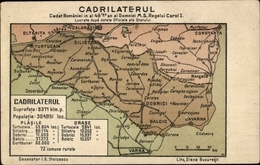 Landkarten Lithographie Silistra Bulgarien, Cadrilaterul - Bulgarije