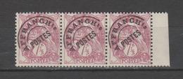 FRANCE / 1922-1947 / Y&T Préo N° 42 ** : Blanc 7,5c Lilas X 3 En Bande Dont 1 BdF D (ou Interpanneau) - Préoblitérés