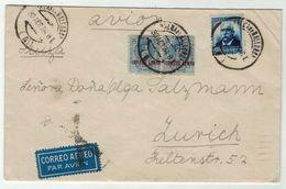 Espagne // Espana // Lettre Par Avion Pour La Suisse (Zurich) - 1931-50 Lettres