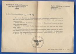 Document  Avec Cachet Allemands  24/9/1942 - 1939-45