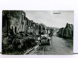 Sehr Seltene AK Tremblois; Straßenszene Mit Auto Und Ruinen, Zerstörte Häuser; Feldpost 1915 - France