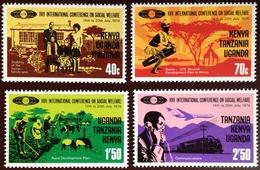 Kenya Uganda Tanzania 1974 Social Welfare MNH - Kenya, Oeganda & Tanzania