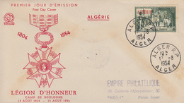 Enveloppe  FDC  1er  Jour  ALGERIE   1ére  Distribution  De  La  Légion  D' Honneur   1954 - Algerien (1924-1962)