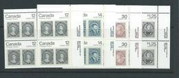 Canada Stamps Capex  Sg907  Imprint Inscription  Blocks  Top Right Mnh - Blocks & Sheetlets