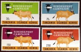 Kenya Uganda Tanzania 1971 OAU Rinderpest Animals MNH - Kenya, Oeganda & Tanzania