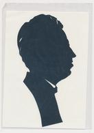 Silhouette Man, Homme Original Vintage Hand Made Silouette Siluette 1970s Old Card - Silhouettes