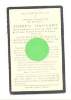 Faire=part De Décès De Joseph HANKART - HEILRIMONT(Stoumont) 1916 Et Catherine DUHARD - ROANNE COO 1905 (b235) - Overlijden