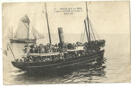 BELLE ILE En MER.  Vapeur Union Arrivant à Belle Ile. - Belle Ile En Mer