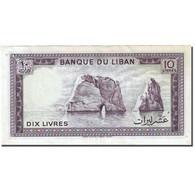 Billet, Lebanon, 10 Livres, 1964-1978, 1986, KM:63f, SUP - Liban