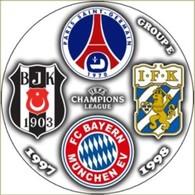Pin Champions League 1997-1998 Group E Paris Saint-Germain Bayern Munchen Besiktas IFK Goteborg - Fussball